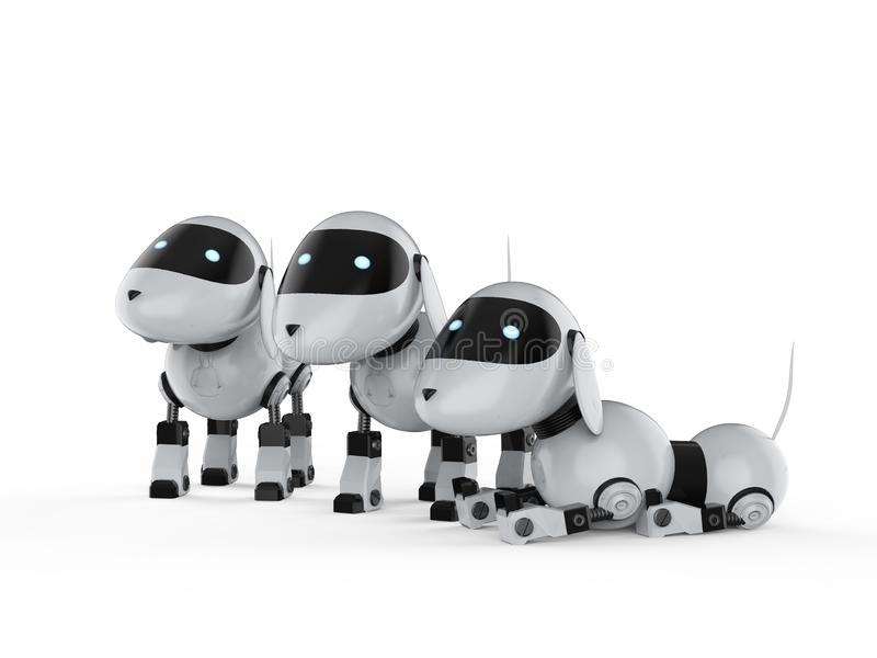 Grupa psi roboty ilustracja wektor