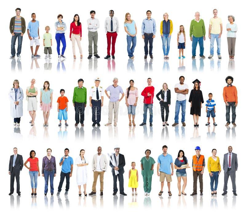Grupa Różnorodni ludzie z Różnymi zajęciami zdjęcia royalty free