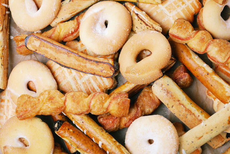 Grupa słodcy smakowici ciastka obrazy stock