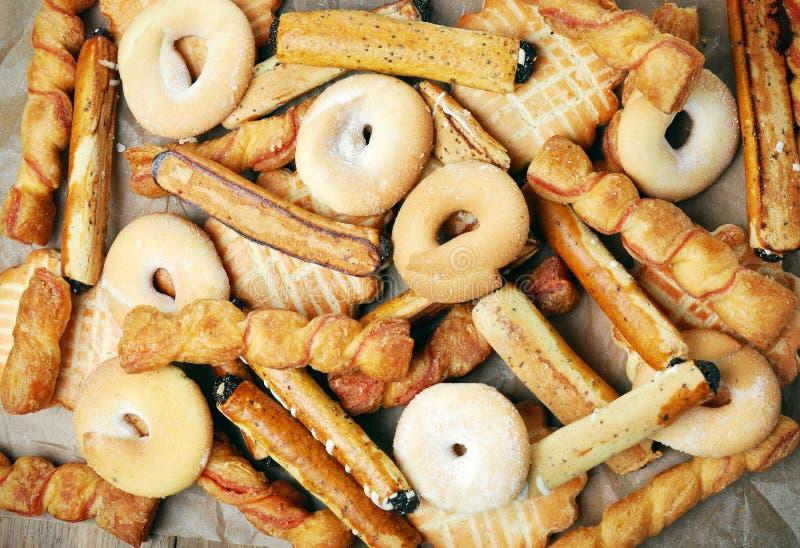 Grupa słodcy smakowici ciastka fotografia stock