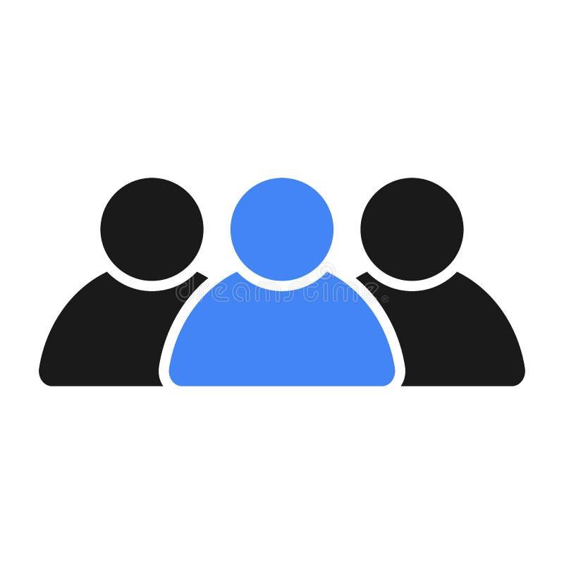 Grupa społeczna ludzie Lider w drużynie ilustracji