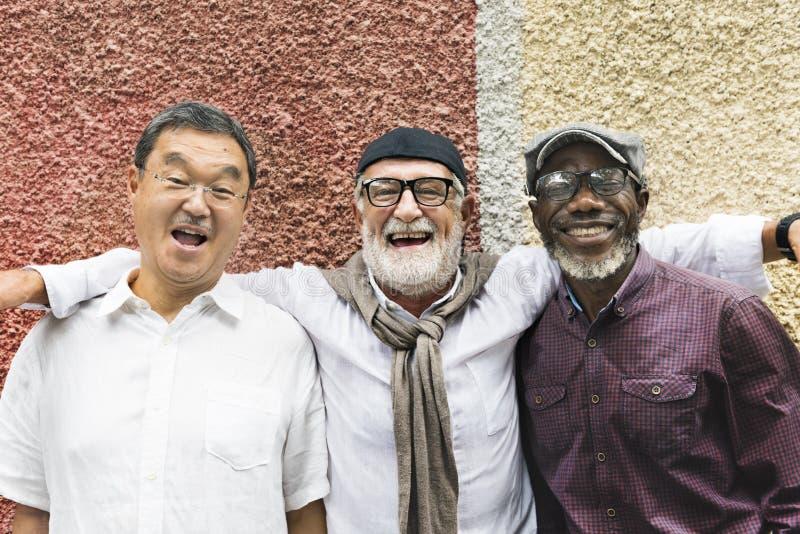 Grupa Starszy emerytura dyskusi pojęcie zdjęcia royalty free