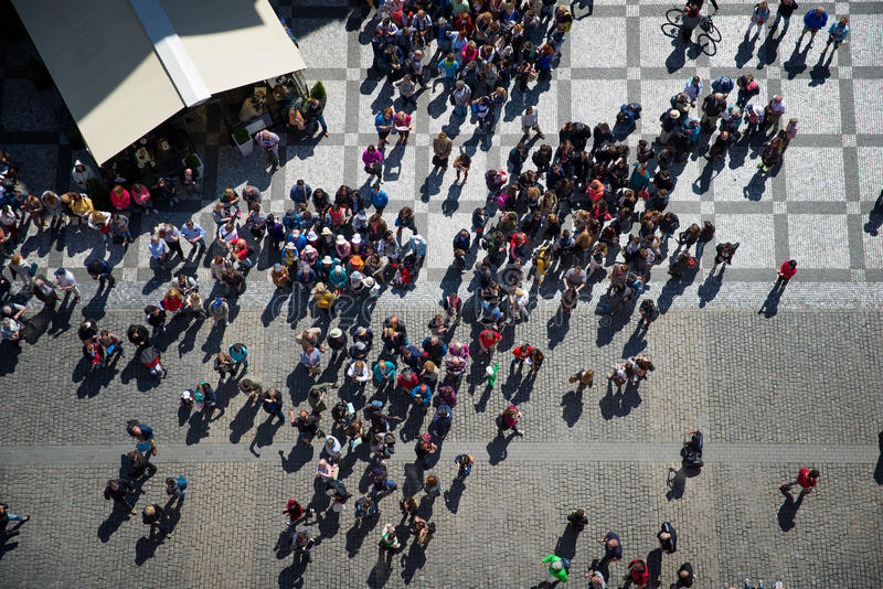 Grupa tourists top view royalty free stock images