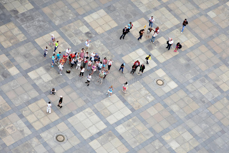 Grupa turyści obrazy royalty free