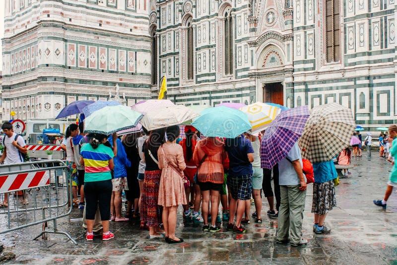Grupa turyści Florencja, Włochy obrazy royalty free