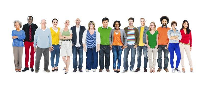 Grupa Wieloetniczni Różnorodni Kolorowi ludzie zdjęcie royalty free