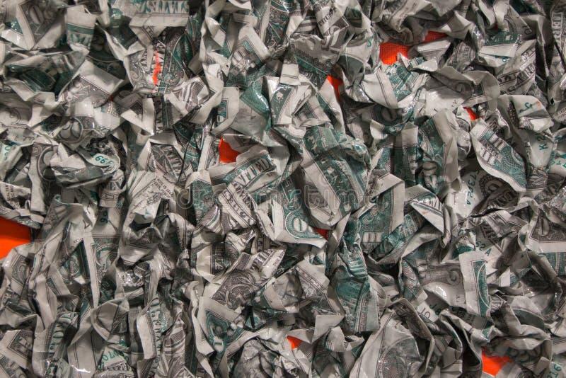 Grupa Zmięty Dolarowy banknot zdjęcia stock