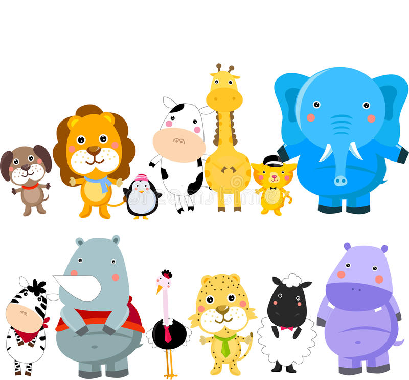 Download Grupa zwierzęta ilustracja wektor. Obraz złożonej z maskotka - 27844921