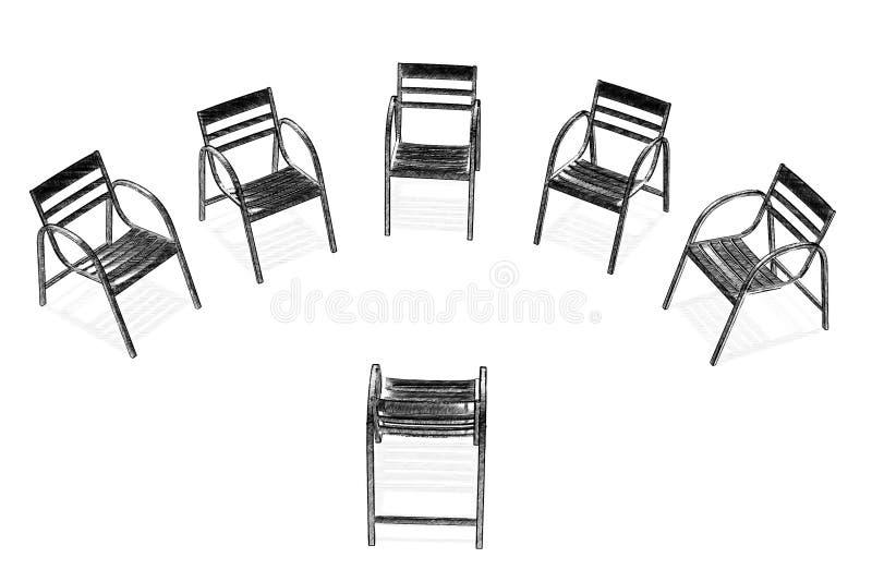 Grupo ilustración del vector