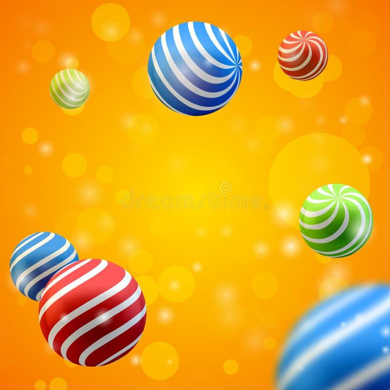 Grupo abstracto de esferas libre illustration