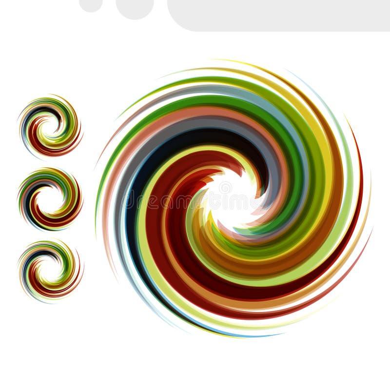 Grupo abstrato colorido do ícone Fluxo dinâmico ilustração royalty free