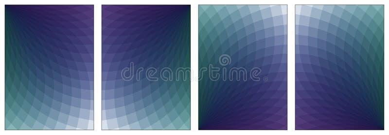 Grupo abstrato da ilustração de cor Cores do inclinação 3d Para o papel A4 ilustração royalty free