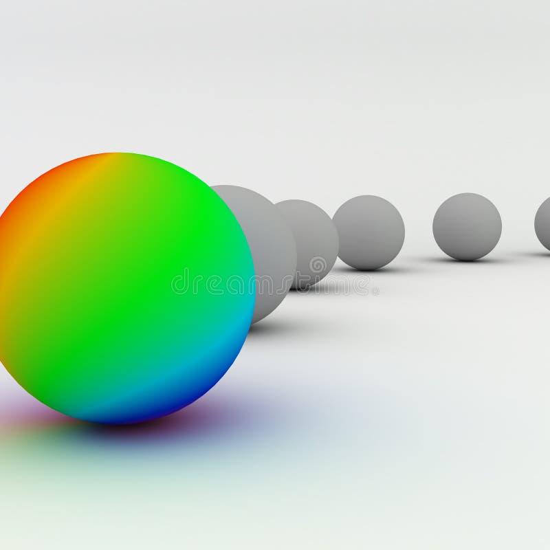 Grupo abstrato das esferas isolado ilustração do vetor