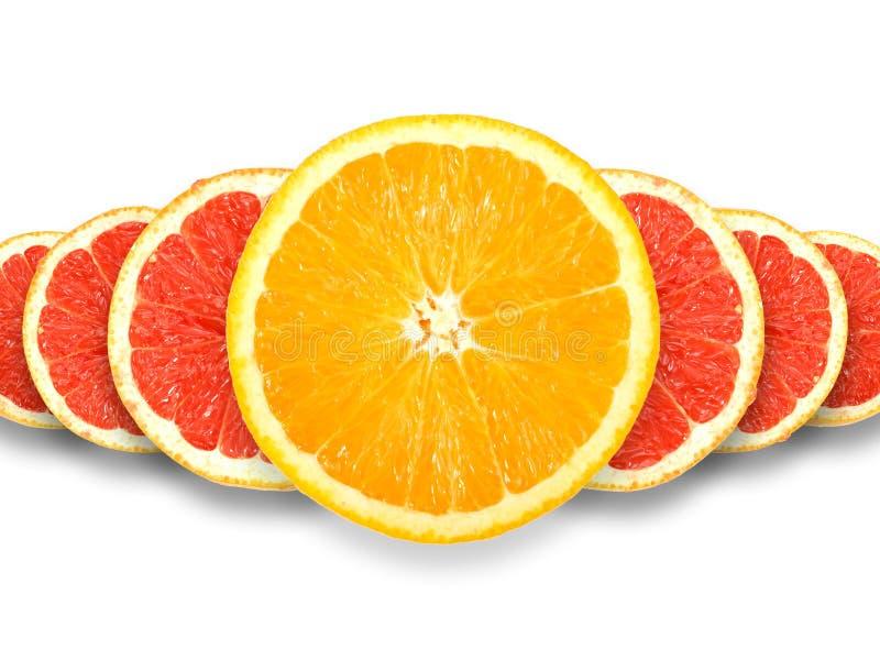 Grupo abstrato de citrinas transversais fotos de stock