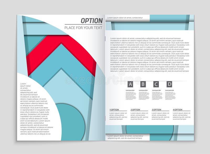 Grupo abstrato do fundo da disposição do vetor Para o projeto do molde da arte, lista, primeira página, estilo do tema do folheto ilustração royalty free