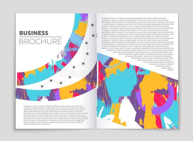 Grupo abstrato do fundo da disposição do vetor Para o projeto do molde da arte, lista, primeira página, estilo do tema do folheto ilustração stock