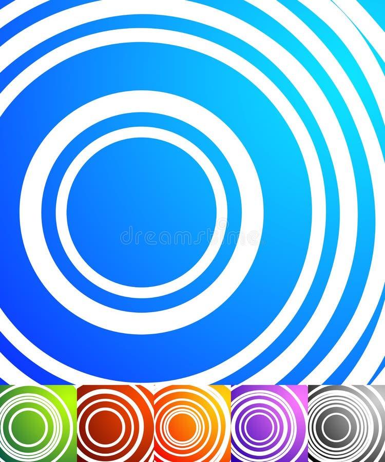 Grupo abstrato do fundo Fundos quadrados do formato com geometri ilustração stock