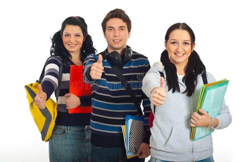 Grupo acertado de estudiantes foto de archivo libre de regalías