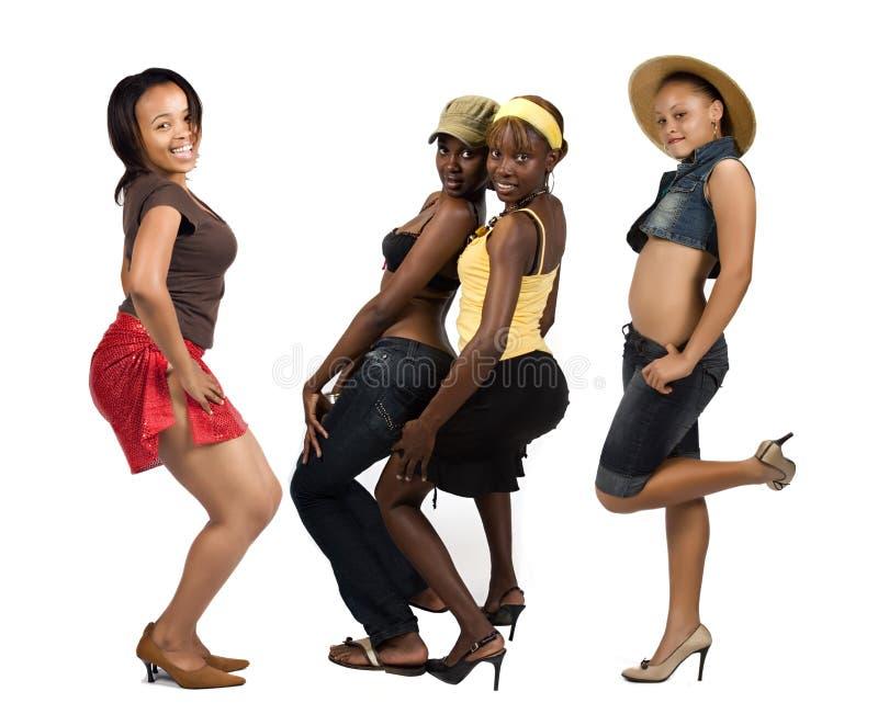 Grupo africano das meninas foto de stock royalty free