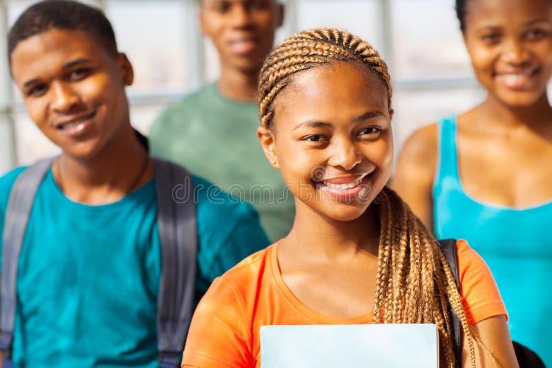 Grupo africano de la universidad foto de archivo