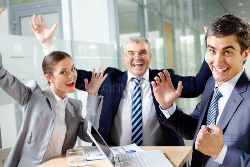 Grupo alegre imagem de stock royalty free