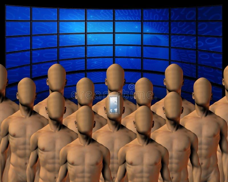 Grupo antes das telas ilustração stock