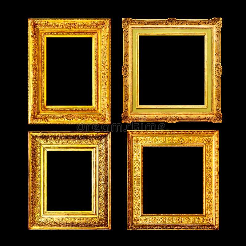 Grupo antigo do quadro do ouro do estilo barroco foto de stock royalty free