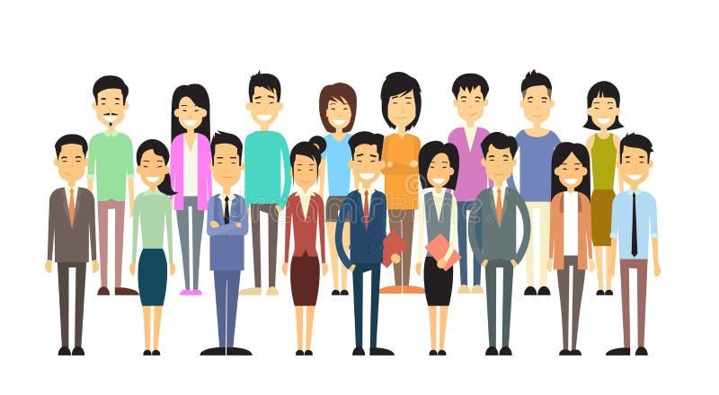 Grupo asiático de la gente de la indumentaria de oficina informal libre illustration