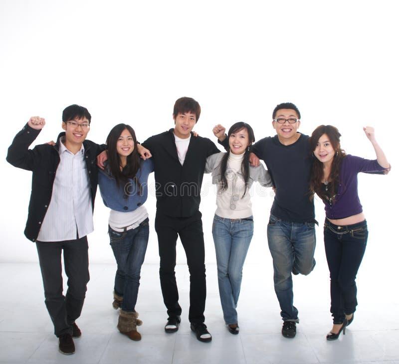 Grupo asiático novo fotografia de stock