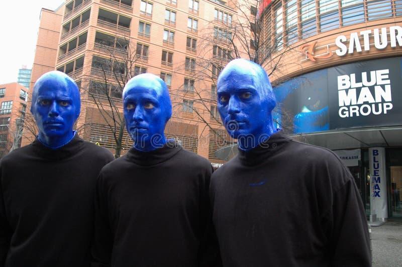 Grupo azul del hombre fotos de archivo libres de regalías