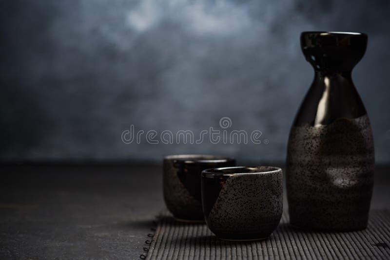Grupo bebendo da causa japonesa de Orienatal fotos de stock royalty free