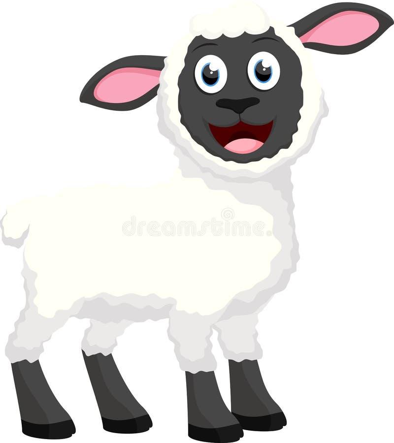 Grupo bonito da coleção dos desenhos animados dos carneiros fotografia de stock royalty free