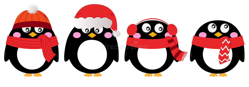 Grupo bonito do pinguim