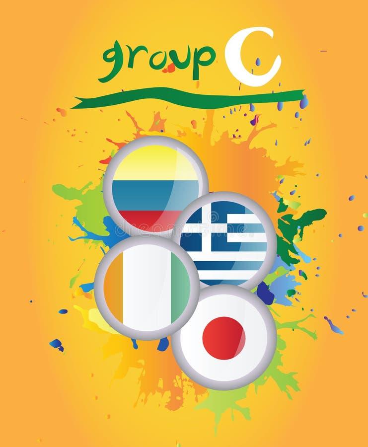 Grupo C de la taza de mundo libre illustration
