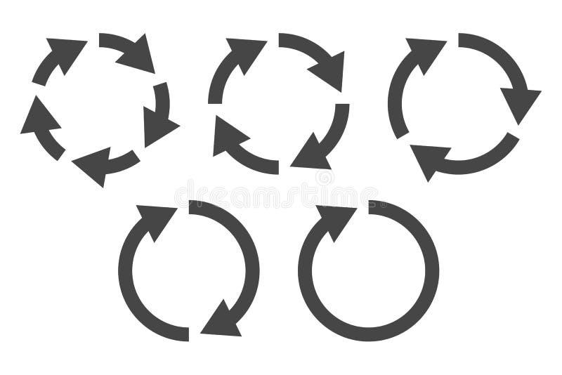 Grupo circular do ícone das setas ilustração do vetor