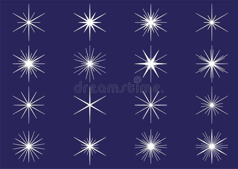 Grupo claro dos Sparkles ilustração stock