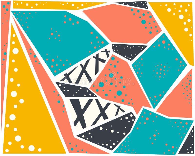 Grupo colorido brilhante de fundo geométrico abstrato do teste padrão ilustração stock