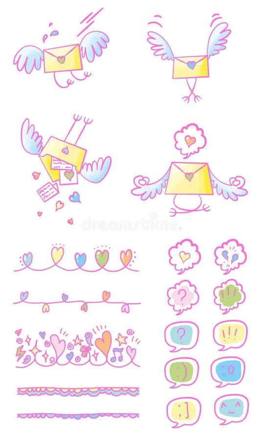 Grupo colorido do arco-íris do Valentim foto de stock royalty free