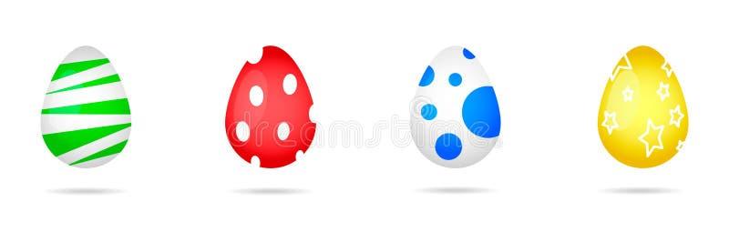 Grupo colorido do vetor dos ovos da páscoa ilustração royalty free