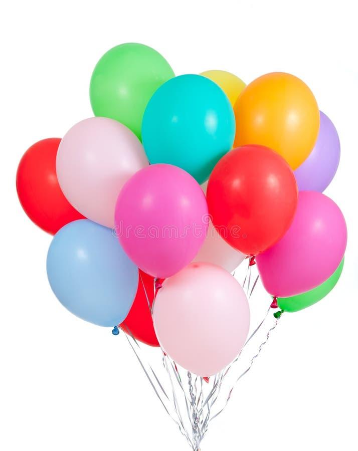 Grupo colorido dos ballons isolado no branco foto de stock royalty free