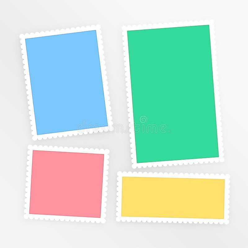 Grupo colorido vazio dos papéis do álbum de recortes ilustração royalty free