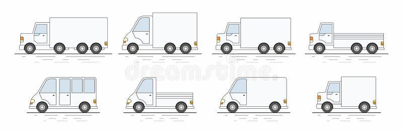 Grupo comercial de camionete ícone ilustração do vetor
