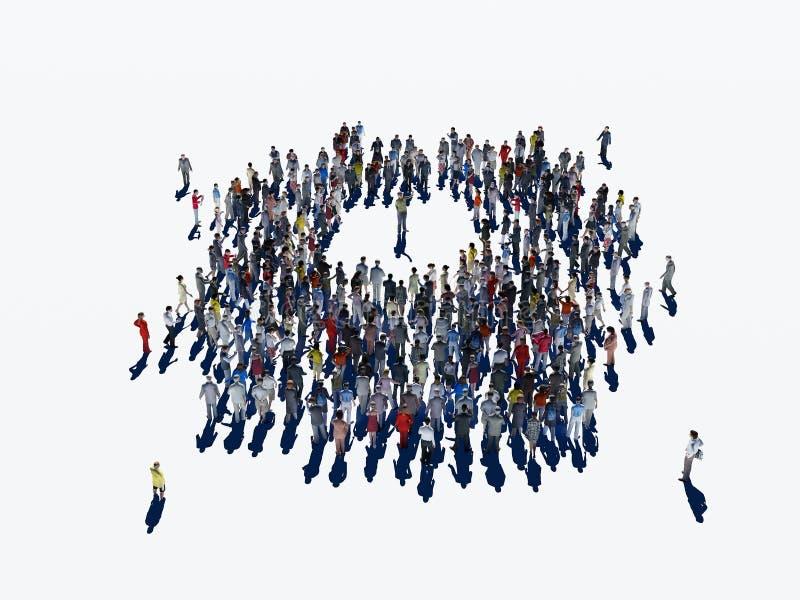 Grupo comunitario de la gente stock de ilustración