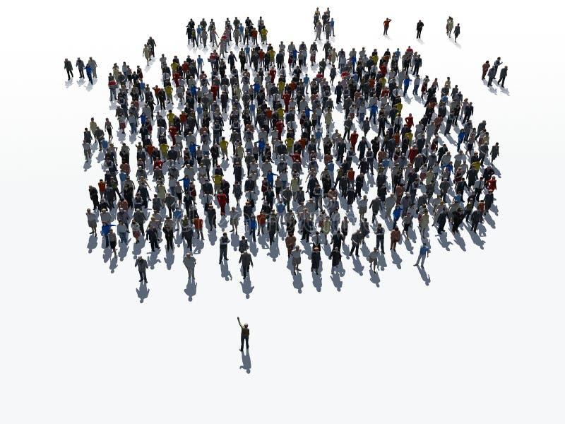 Grupo comunitario de la gente libre illustration