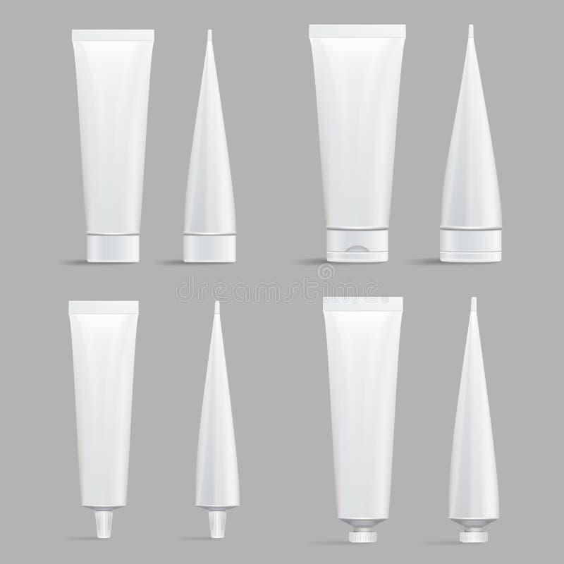 Grupo cosmético do tubo Zombaria do vetor acima ilustração stock