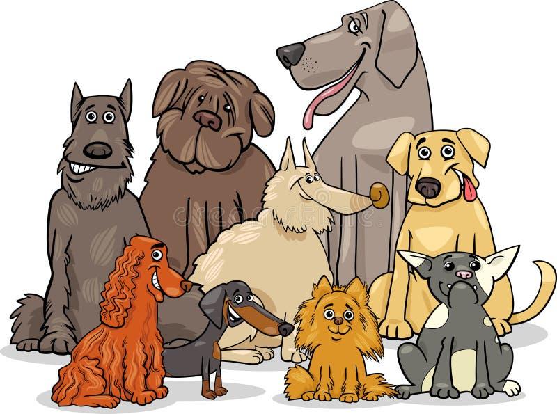 Grupo criado en línea pura de los caracteres del perro libre illustration