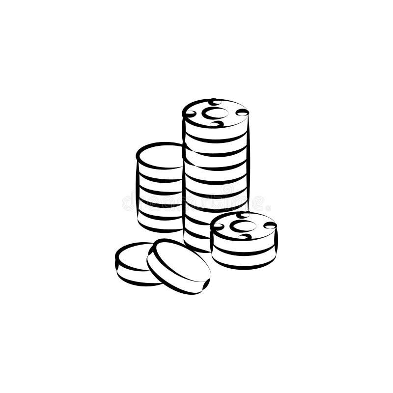 grupo, criminoso, casino, ícone da microplaqueta Elemento do ícone do crime para apps móveis do conceito e da Web Entregue o grup ilustração stock