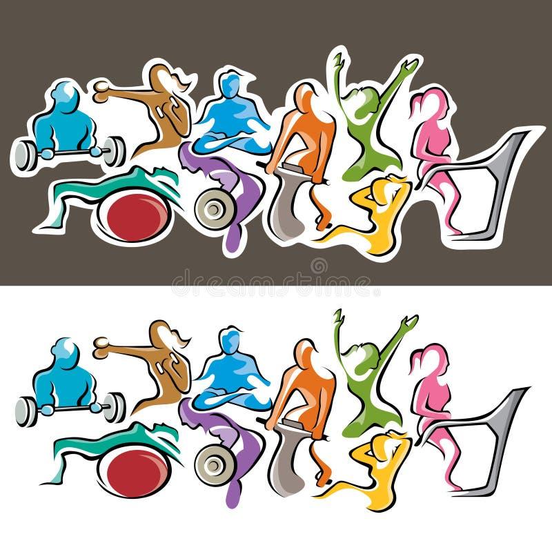 Grupo da aptidão ilustração royalty free