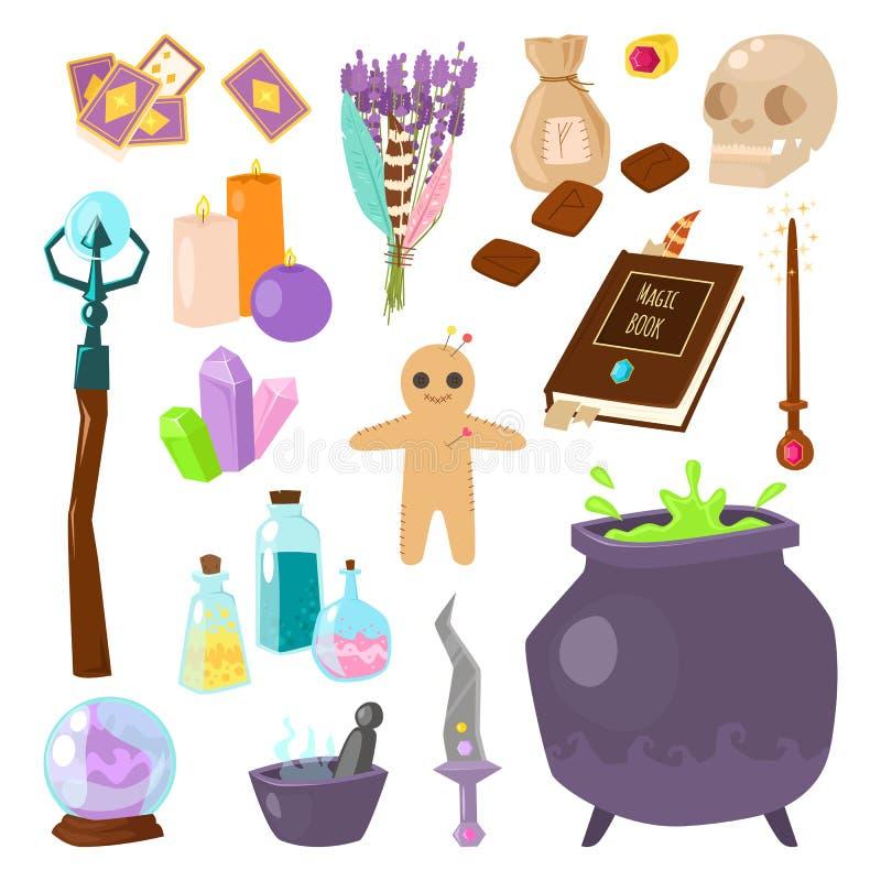 Grupo da astrologia de ícones do vetor ilustração royalty free