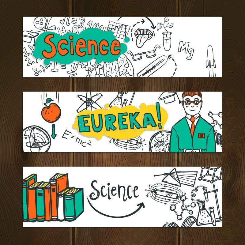 Grupo da bandeira da ciência ilustração royalty free